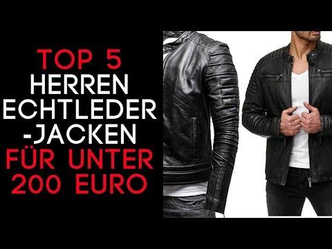 Lederjacke Herren/ Herren Lederjacke Echtleder  -  Die TOP 5 auf Amazon für unter 200 € - 2018