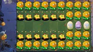 PvZ 2 1000 Plants Level 100 Vs Team Halloween Zombies Level 100 in Vase Egg