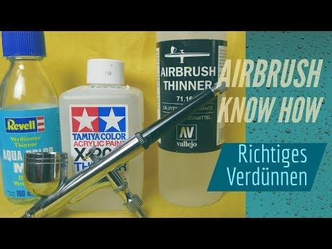 AIRBRUSH KNOW HOW - Richtiges Verdünnen