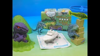 2000 GODZILLA THE SERIES SET OF 4 CARLS Jr COOL KIDS MEAL TOYS VIDEO REVIEW