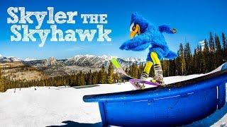 Skyler the Skyhawk hits the slopes at Purgatory Ski Area