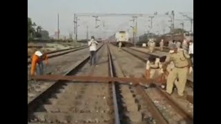 Shramik train passengers block railway track in Chandauli over scaricty of food, water - Download this Video in MP3, M4A, WEBM, MP4, 3GP