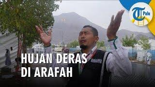Hujan Deras Guyur Arafah saat Wukuf Puncak Haji