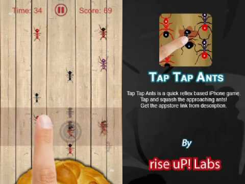 Screenshot of video: Tap Tap ants app