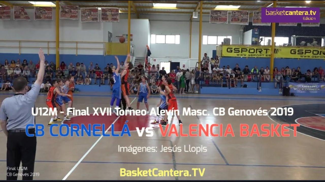 U12M - CB CORNELLÁ vs VALENCIA BASKET.- FINAL Torneo Alevín CB Genovés 2919