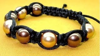 How To Make A Simple Macrame Beaded Bracelet - Macrame Bracelet Patterns - Macrame Projects