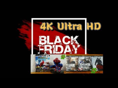 unboxing 4K Blu Ray's de Black Friday 2017