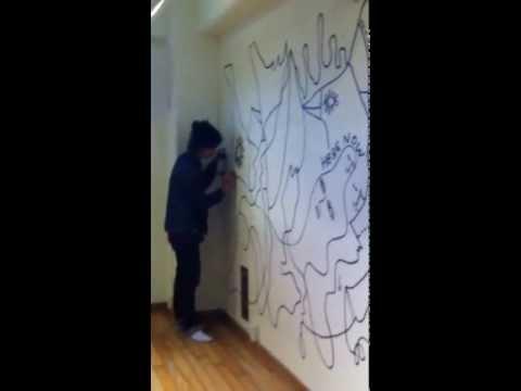 Shantell Martin Live Drawing@ RYOZAN PARK, Sugamo, Tokyo
