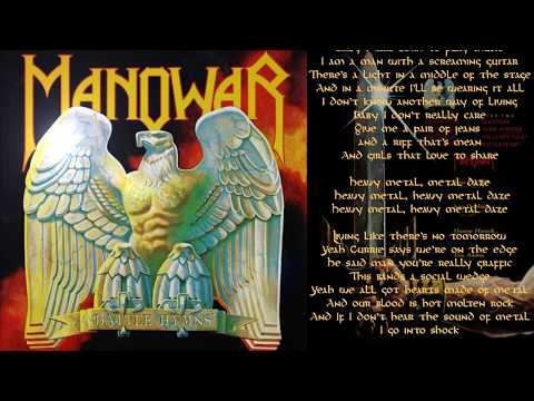 Manowar - Metal Daze - Lyric Video