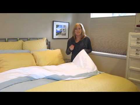 Video for White and White Rayon from Bamboo Reversible Full Duvet Cover