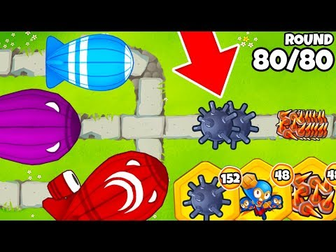 Level 80 with NO TOWERS?! | INSANE No Tower CHALLENGE in BTD 6!