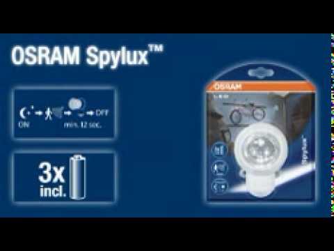 SPYLUX OSRAM LED Leuchte mit intergriertem Bewegungsmelder Batterie betrieben