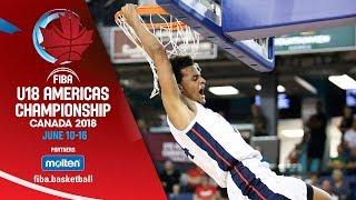 USA v Canada - Final - Re-Live (ENG) - FIBA U18 Americas Championship 2018