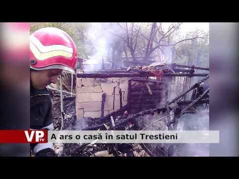 A ars o casă în satul Trestieni