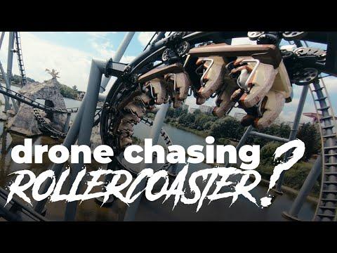 Αγώνας δρόμου ανάμεσα σε ένα drone και τρενάκι του λούνα παρκ
