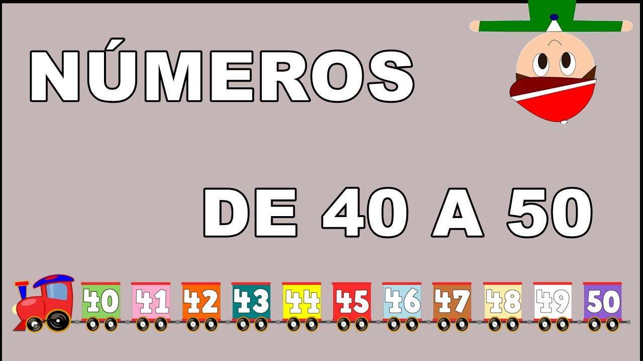 Los Números de 40 al 50 - El Tren de los Números - Numbers in Spanish for Kids