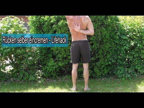 Rücken selber eincremen Trick / Sonnencreme Eincremehilfe selber machen – Lifehack alleine eincremen