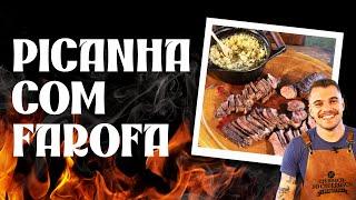 PICANHA selada + FAROFA com cebola e ovos: aprenda! | Santa Massa