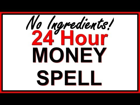 24 HOUR MONEY SPELL WITHOUT INGREDIENTS! Revealed by a Real Witch