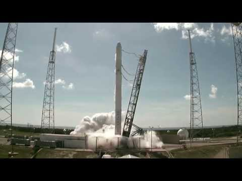SpaceX CRS-7 liftoff video (NASA TV)