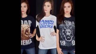 082331108100 Kaos Tjap Singo  Kaos Arema Malang Aremania Singo Edan
