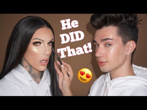 JAMES CHARLES DOES MY MAKEUP