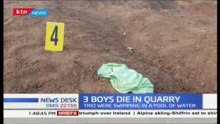 3 children drown to death in an abandoned quarry in Nyahururu town as they were swimming
