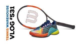 premium selection c35e3 1c56a ... Pure Drive racquet deals, adidas Barricade Pop Art, Wilson Burn 95 CV  and more! - VLOG   ...