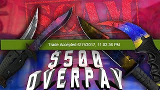 A CS:GO Scammer Offered me $500 OVERPAY! | Trolling CS:GO Scammers