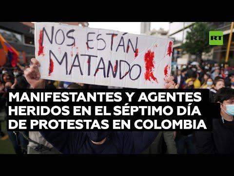 """Video: """"Nos están matando"""" denuncian manifestantes colombianos"""