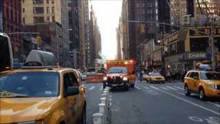 preview picture of video 'ST. LUKES ROOSEVELT EMS AMBULANCE RESPONDING ON W. 40TH ST. & 8TH AVE.  IN MIDTOWN, MANHATTAN, NYC.'