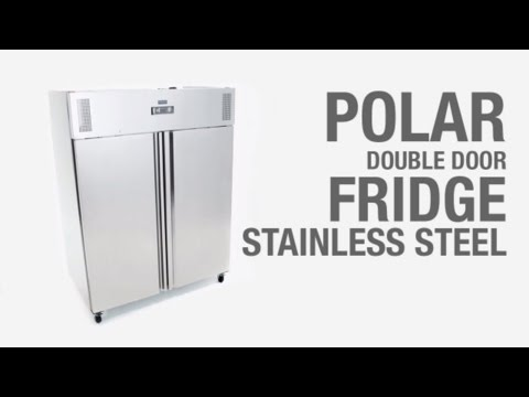 Video Polar RVS dubbeldeurs koelkast - 1200 liter - G594