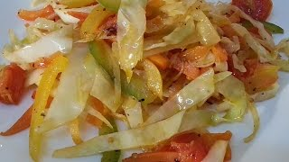 Jamaican Stir Fry Cabbage Recipes | Recipes By Chef Ricardo