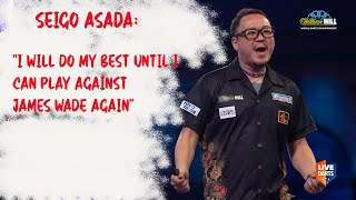 "Seigo Asada: ""I will do my best until I can play against James Wade again"""