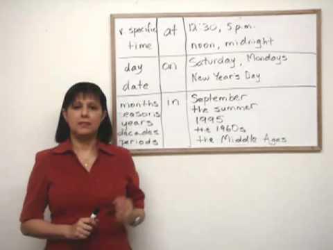 """Lekce angličtiny – předložky """"at"""", """"on"""" a """"in"""""""
