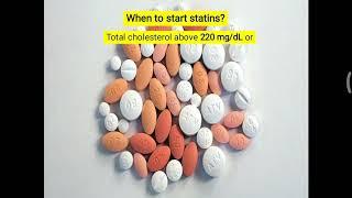 When to start statin?