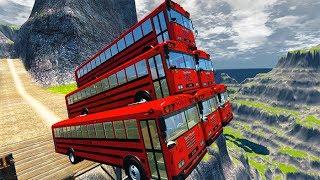 Leap Of Death Car Jumps & Falls #12 BeamNG drive