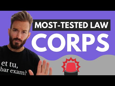 Business Associations Bar Review (Corporations): Most Tested Areas of Law on the Bar Exam [PREVIEW]