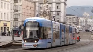 preview picture of video 'Scenes from the Linz Straßenbahn Linz Trams'