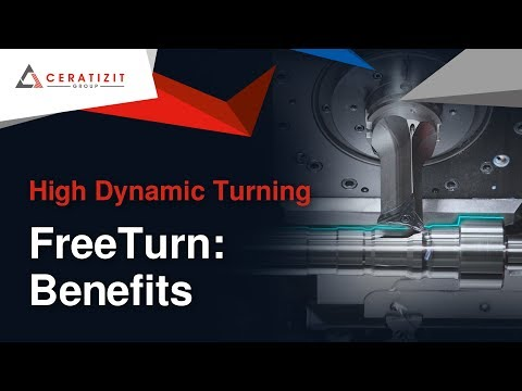 Turning Steel with High Dynamic Turning (HDT) using FreeTurn tools from CERATIZIT