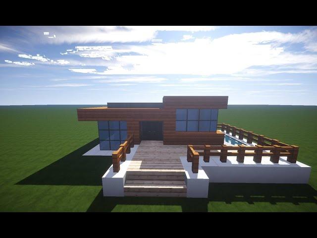 Minecraft Modernes Haus Klein Braun Weiß Wie Baut Man Ein Großes - Minecraft grobes haus bauen tutorial deutsch