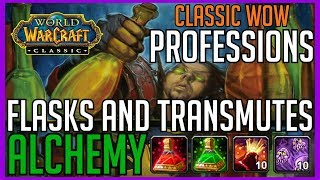 Classic Vanilla WoW Professions: Flasks and Transmutes Alchemy Guide World of Warcraft