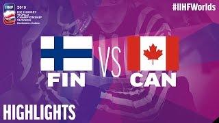 Finland Vs. Canada   Highlights   2019 IIHF Ice Hockey World Championship