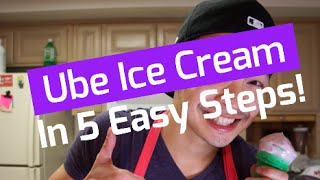 How To Make UBE ICE CREAM (5 Easy Steps!)