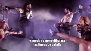 WWE Battleground 2016 theme song 'this is a war' letra en español