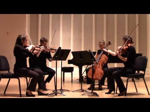 HALE Quartet performing Bartok's first string quartet, Movements I and II
