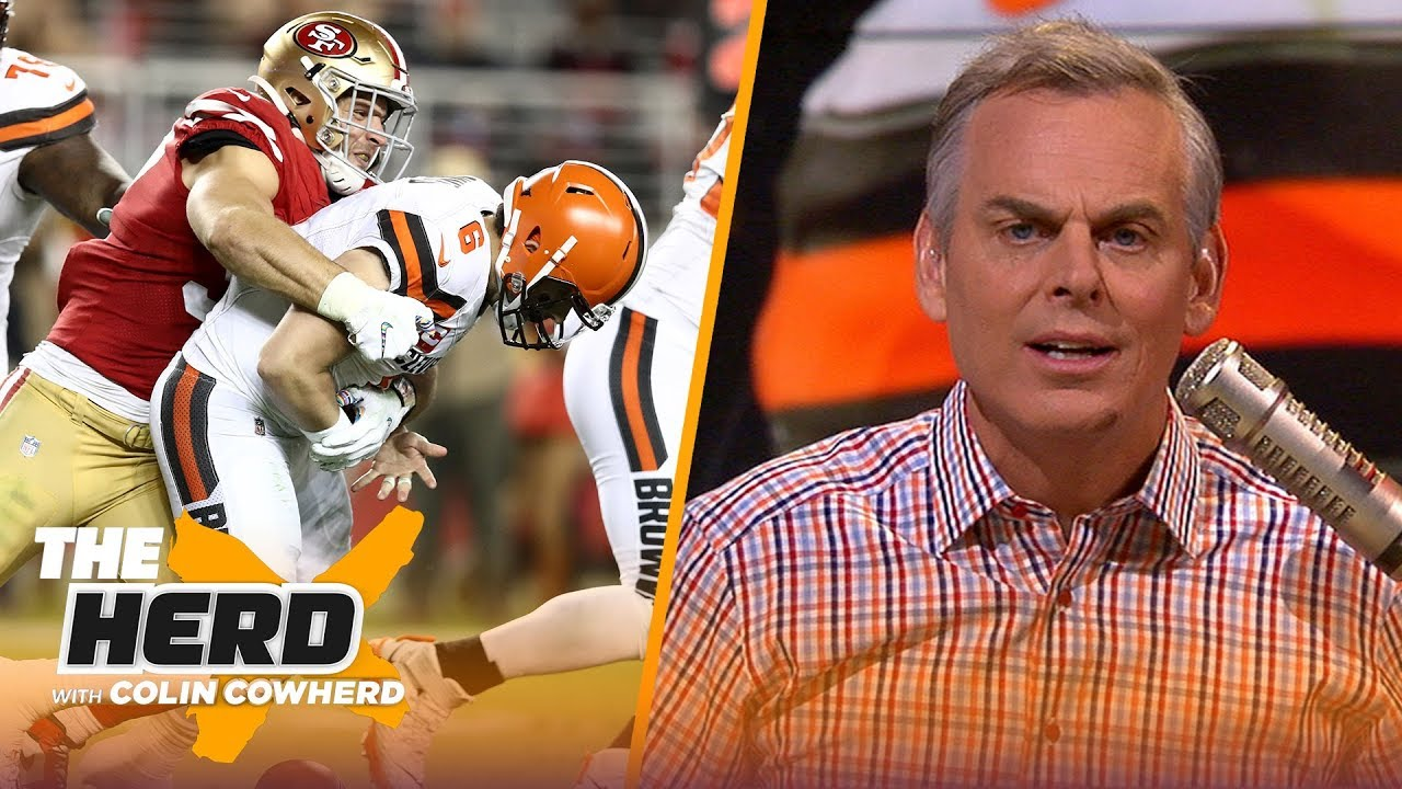 Colin reacts to Browns' 31-3 shellacking by the 49ers & says team should trade OBJ   NFL   THE HERD Screenshot Download