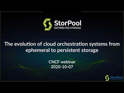 The evolution of cloud orchestration systems from ephemeral to persistent storage