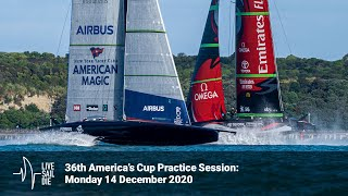 36th America's Cup Practice Session - Monday 14 December 2020