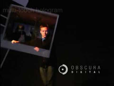 Massive Multitouch Hologram is Like Microsoft Surface Without The Surface